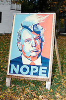 Donald Trump - Trump NOPE sign - Lexingont, MA - 6 Nov 2016