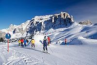 Italy, South Tyrol, Dolomites, Val di Gardena, skiing area, Sella Mountain Range