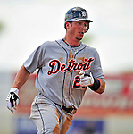 15 March 2009: Detroit Tigers' outfielder Brent Clevlen hustles to third base during a Spring Training game against the Washington Nationals at Space Coast Stadium in Viera, Florida. The Tigers shut out the Nationals 3-0 in the Grapefruit League matchup. Mandatory Photo Credit: Ed Wolfstein Photo