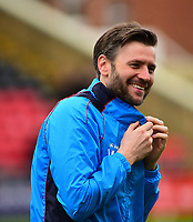 Lincoln City's assistant manager Nicky Cowley during the pre-match warm-up <br /> <br /> Photographer Andrew Vaughan/CameraSport<br /> <br /> Buildbase FA Trophy Semi Final Second Leg - Lincoln City v York City - Saturday 18th March 2017 - Sincil Bank - Lincoln<br />  <br /> World Copyright &copy; 2017 CameraSport. All rights reserved. 43 Linden Ave. Countesthorpe. Leicester. England. LE8 5PG - Tel: +44 (0) 116 277 4147 - admin@camerasport.com - www.camerasport.com