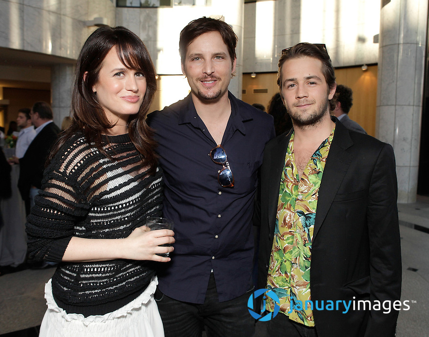 """BEVERLY HILLS, CA - JUNE 06:  Elizabeth Reaser, Peter Facinelli and Michael Angarano attend a Fox Searchlight screening Of """"The Art Of Getting By"""" at Clarity Theater on June 6, 2011 in Beverly Hills, California.  (Photo by Todd Williamson/WireImage)"""