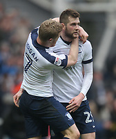 Preston North End's Tom Barkuizen celebrates scoring his sides first goal  with  Daryl Horgan<br /> <br /> Photographer Mick Walker/CameraSport<br /> <br /> The EFL Sky Bet Championship - Preston North End v Reading - Saturday 11th March 2017 - Deepdale - Preston<br /> <br /> World Copyright &copy; 2017 CameraSport. All rights reserved. 43 Linden Ave. Countesthorpe. Leicester. England. LE8 5PG - Tel: +44 (0) 116 277 4147 - admin@camerasport.com - www.camerasport.com