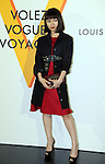 """April 21, 2016, Tokyo, Japan - Japanese actress Fumi Nikaido smiles during a photo call for the reception of Louis Vuitton's art exhibition in Tokyo on Thursday, April 21, 2016. French luxury barnd Luis Vuitton will hold the exhibition """"Volez, Voguez, Voyagez"""" in Tokyo from April 23 through June 19.  (Photo by Yoshio Tsunoda/AFLO) LWX -ytd-"""