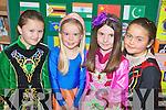 Pictured at the Presentation Primary School International Day last Friday were Amy O'Regan, Sara Hobbert, Sorcha Ringland, Charlotte Calleja O'Halloran.