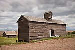 Abandoned farm with grain shed in the Channeled Scablands of central Washington.
