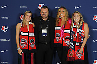 BALTIMORE, MD - JANUARY 16: Katie McClure, Richie Burke, Kaiya McCullough, Ashley Sanchez during the 2020 NWSL College Draft at the Baltimore Convention Center on January 16, 2020 in Baltimore, Maryland.