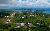 Palau Oct 2007,Aerial over the international Airport in Palau, Micronesia