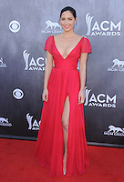 LAS VEGAS, NV - APRIL 6:  Olivia Munn at the 49th Annual Academy of Country Music Awards at the MGM Grand Garden Arena on April 6, 2014 in Las Vegas, Nevada.MPIPG/Starlitepics