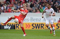 FUSSBALL   1. BUNDESLIGA  SAISON 2012/2013   3. Spieltag  15.09.2012 VfB Stuttgart - Fortuna Duesseldorf    Johannes van den Bergh (li, Duesseldorf) gegen Martin Harnik (VfB Stuttgart)