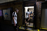 Dover Athletic 2 Cambridge United 4, 17/11/2016. The Crabble, FA Cup first round replay. Home players walking into the dressing room at the Crabble after National League Dover Athletic hosted League 2 Cambridge United in an FA Cup first round replay. The club was founded in 1983 after the dissolution of the town's previous club Dover FC, whose place in the Southern League was taken by the new club. Cambridge United won the tie by 4-2 after extra time, watched by a crowd of 1158. Photo by Colin McPherson.