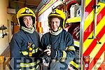 Sinead Galvin and Marian O'Donoghue  Firefighters at Killarney Fire Station.