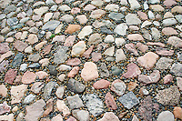 Rock surface at Radegast Station where 200,000 Jews were transported to Auschwitz and other death camps.  Lodz Central Poland