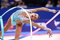 September 13, 2018 - Sofia, Bulgaria - ALEKSANDRA SOLDATOVA of Russia performs during AA final at 2018 World Championships.