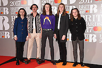 Blossoms at the 2017 Brit Awards at the O2 Arena in London, UK. <br /> 22 February  2017<br /> Picture: Steve Vas/Featureflash/SilverHub 0208 004 5359 sales@silverhubmedia.com