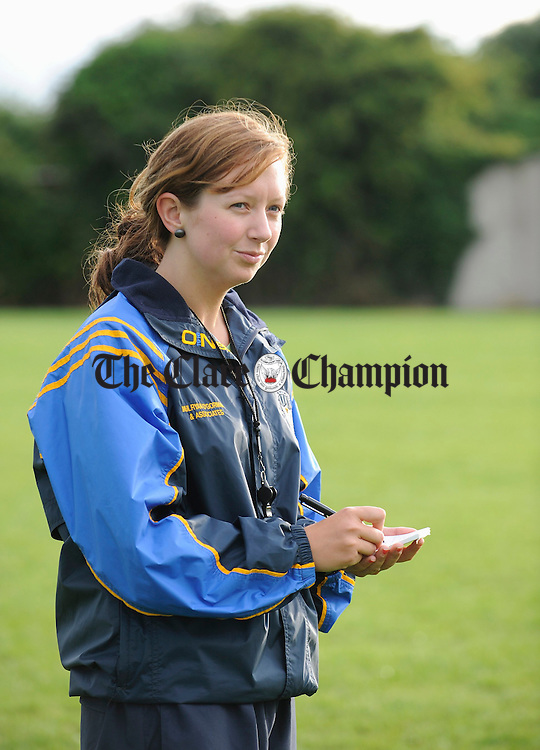 Newmarket Feile U-14 camogie team selector Sharon Mc Mahon. Photograph by John Kelly.