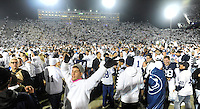 22 October 2016:  Penn State students and fans celebrate on the field after The Penn State Nittany Lions upset the #2 ranked Ohio State Buckeyes 24-21 at Beaver Stadium in State College, PA. (Photo by Randy Litzinger/Icon Sportswire)