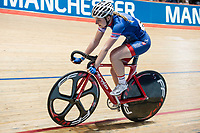 Picture by Allan McKenzie/SWpix.com - 06/01/2018 - Track Cycling - Revolution Champion Series 2017 - Round 3 - HSBC UK National Cycling Centre, Manchester, England - Abigail Dentus, Team Inspired, HSBC UK, Kalas, branding.