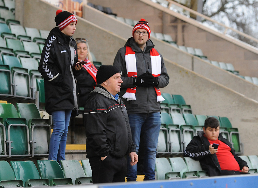 Fleetwood Town fans enjoy the pre-match atmosphere <br /> <br /> Photographer Kevin Barnes/CameraSport<br /> <br /> The EFL Sky Bet League One - Plymouth Argyle v Fleetwood Town - Saturday 24th November 2018 - Home Park - Plymouth<br /> <br /> World Copyright © 2018 CameraSport. All rights reserved. 43 Linden Ave. Countesthorpe. Leicester. England. LE8 5PG - Tel: +44 (0) 116 277 4147 - admin@camerasport.com - www.camerasport.com
