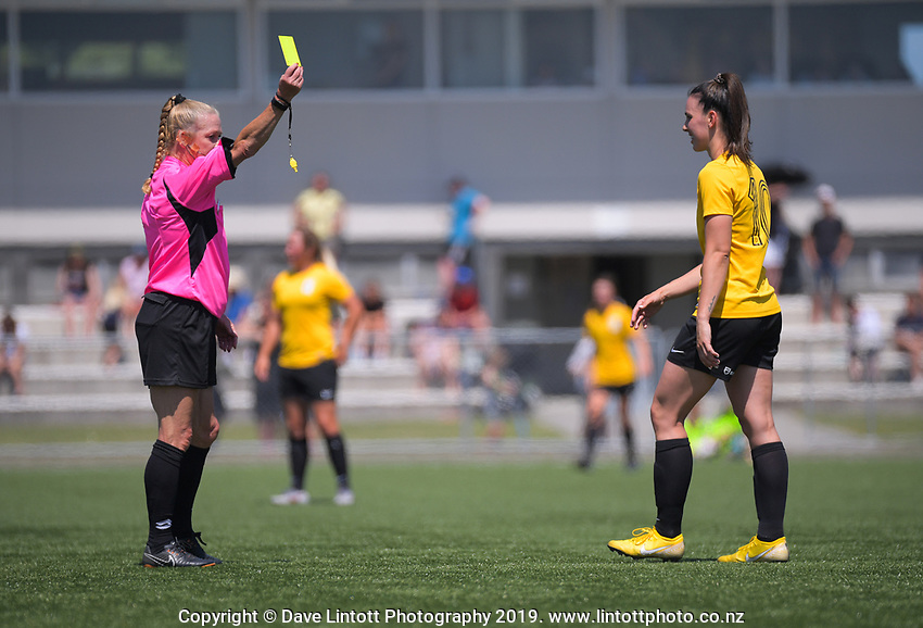 Action from the National Women's League football match between Capital and Southern at Petone Memorial Park in Petone, New Zealand on Saturday, 30 November 2019. Photo: Dave Lintott / lintottphoto.co.nz