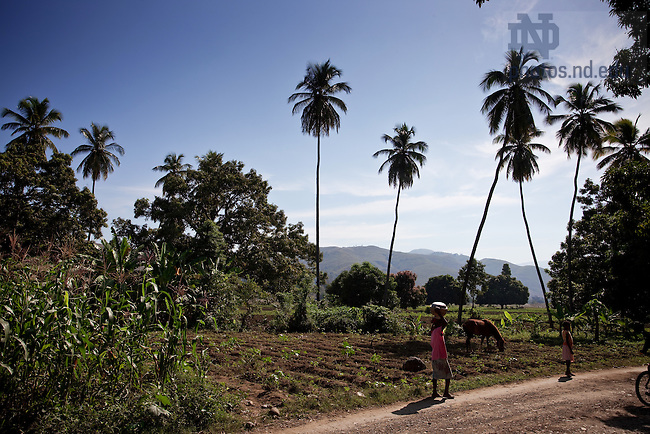 Rural scene near Leogane, Haiti..Photo by Matt Cashore/University of Notre Dame