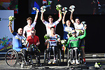 The winners podium during the 2019 Para-Cycling International of the UCI World Championships 2019 running from Beverley to Harrogate, England. 21st September 2019.<br /> Picture: SWPix.com | Cyclefile<br /> <br /> All photos usage must carry mandatory copyright credit (© Cyclefile | SWPix.com)