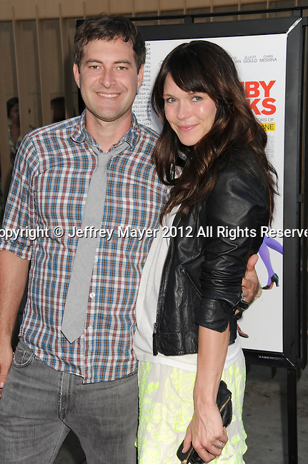 HOLLYWOOD, CA - JULY 19: Mark Duplass and Katie Aselton attend the 'Ruby Sparks' Los Angeles premiere at American Cinematheque's Egyptian Theatre on July 19, 2012 in Hollywood, California.