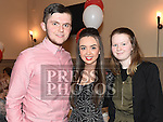 Cillian Shevlin, Amie Dyer and Leagha Kirwan pictured at St Nicholas GFC awards night in The Thatch. Photo:Colin Bell/pressphotos.ie