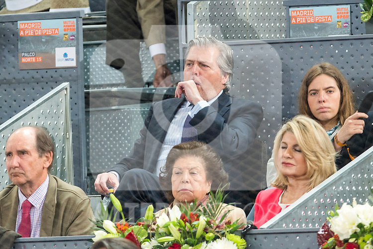 Spanish minister Inigo Mendez de Vigo during the Mutua Madrid Open Tennis 2017 at Caja Magica in Madrid, May 12, 2017. Spain.