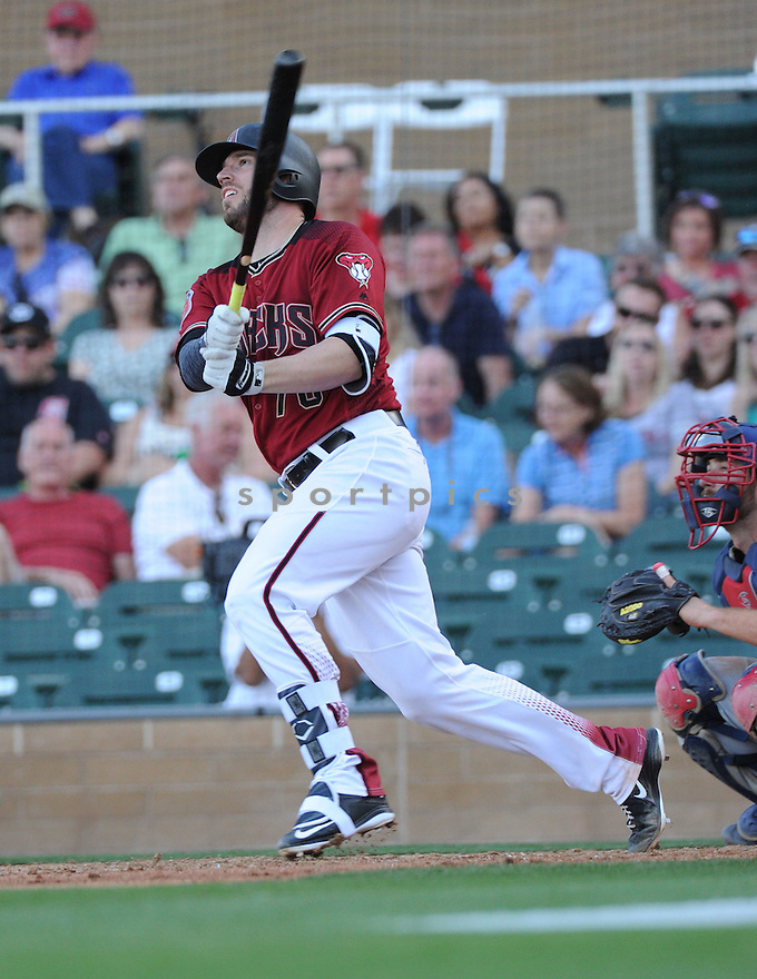 Arizona Diamondbacks Brett Hayes (70) during a preseason game against the Arizona Wildcats on March 1, 2016 at Salt River Fields at Talking Stick in Scottsdale, AZ. The Diamondbacks beat the Wildcats 5-12..