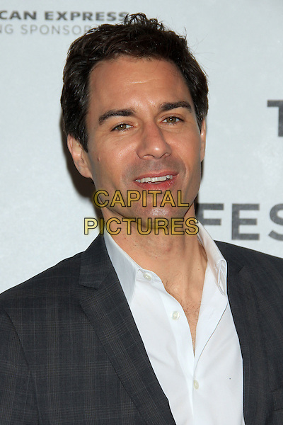 "Eric McCormack.The 2012 Tribeca Film Festival World Premiere of ""Knife Fight"" at the Tribeca Performing Arts Center, New York, NY, USA..April 25th, 2012 .headshot portrait grey gray jacket white shirt .CAP/LNC/TOM.©TOM/LNC/Capital Pictures."