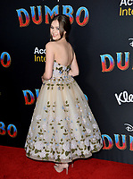 """LOS ANGELES, CA. March 11, 2019: Olivia Sanabia at the world premiere of """"Dumbo"""" at the El Capitan Theatre.<br /> Picture: Paul Smith/Featureflash"""