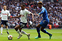 Kyle Walker-Peters of Tottenham Hotspur and Demarai Gray of Leicester City during Tottenham Hotspur vs Leicester City, Premier League Football at Wembley Stadium on 13th May 2018