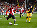 Kieron Freeman of Sheffield Utd in action during the English League One match at Bramall Lane Stadium, Sheffield. Picture date: April 17th 2017. Pic credit should read: Simon Bellis/Sportimage