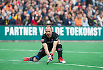 BLOEMENDAAL   - Hockey -  Klaas Vermeulen (A'dam). . 3e en beslissende  wedstrijd halve finale Play Offs heren. Bloemendaal-Amsterdam (0-3).     Amsterdam plaats zich voor de finale.  COPYRIGHT KOEN SUYK