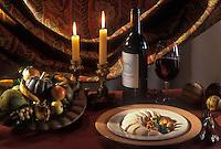 Gastronomie générale/Repas de Réveillon: Poularde du Forez en vessie, cèpes et girolles poêlés