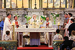 Fr Robert McCabe Silver Jubilee Mass in St Marys Church Navan Co Meath.<br /> Picture Fran Caffrey | Newsfile