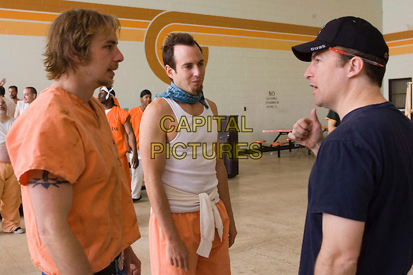 WILL ARNETT, DAX SHEPARD & BOB ODENKIRK (DIRECTOR).on the set of Let's Go to Prison .**Editorial Use Only**.CAP/FB.Supplied by Capital Pictures