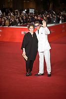 Ginevra Elkann con Lapo Elkann posano al red carpet per la proiezione del film Dallas Buyers Club. Ginevra Elkann and Lapo Elkann attend 'Dallas Buyers Club' Premiere during The 8th Rome Film Festival.