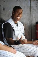 Trenton Thunder outfielder Curtis Granderson (14) during game against the Harrisburg Senators at ARM & HAMMER Park on July 31, 2013 in Trenton, NJ.  Harrisburg defeated Trenton 5-3.  (Tomasso DeRosa/Four Seam Images)