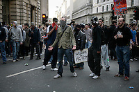 Thousands of protestors descended on the City of London to demonstrate ahead of the G20 summit of world leaders to express anger at the economic crisis, which many blame on the excesses of capitalism.