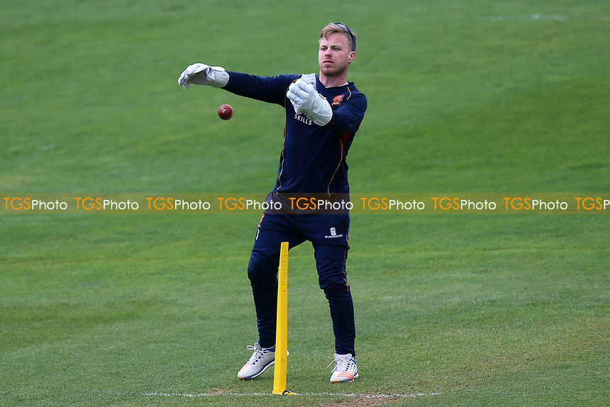 Adam Wheater of Essex throws the ball during Essex CCC vs Durham MCCU, English MCC University Match Cricket at The Cloudfm County Ground on 4th April 2017