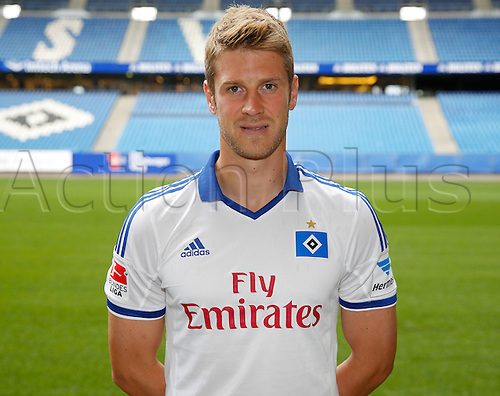30.07.2013. Hamburg, Germany.  German Bundesliga soccer club Hamburger SV's Slobodan Rajkovic poses during the official photo shoot for the season 2013-14 at Hamburg's Imtech Arena stadium.