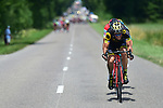 The breakaway Sylvain Chavanel (FRA) Direct Energie, Greg Van Avermaet (BEL) BMC and Alexey Lutsenko (KAZ) Astana form at 33km during Stage 8 of the 104th edition of the Tour de France 2017, running 187.5km from Dole to Station des Rousses, France. 8th July 2017.<br /> Picture: ASO/Pauline Ballet | Cyclefile<br /> <br /> <br /> All photos usage must carry mandatory copyright credit (&copy; Cyclefile | ASO/Pauline Ballet)