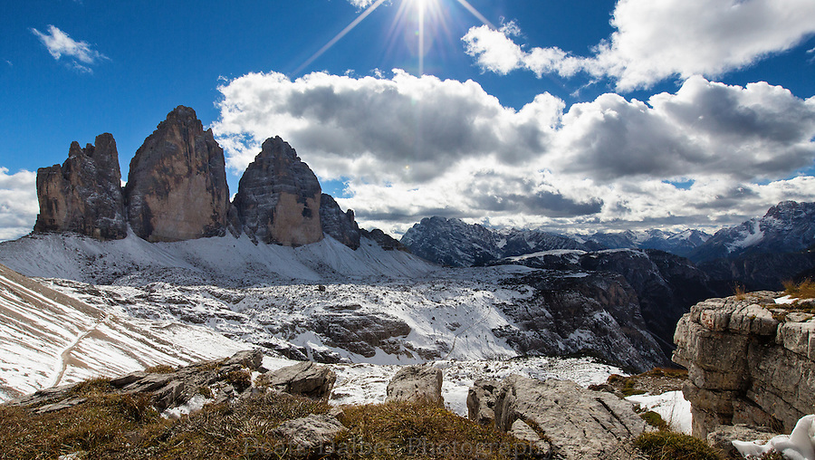 View of Tre Cime, Dolomites