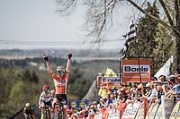 Anna van der Breggen (NED/Boels Dolmans) wins the 21st La Fl&egrave;che Wallonne Femmes <br /> 1 day race: Huy - Huy (118,5KM)