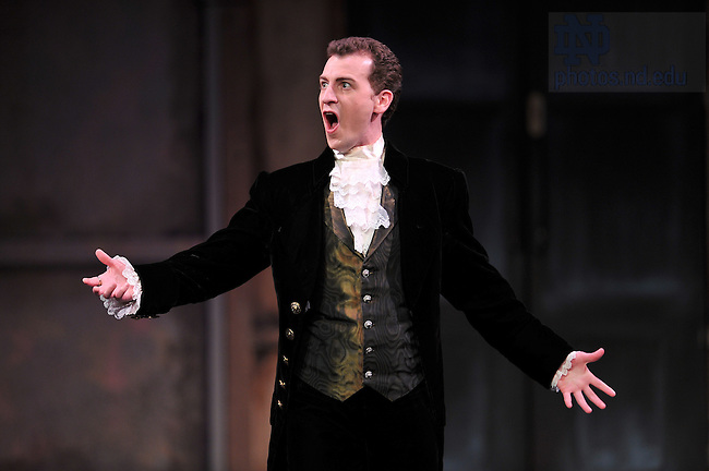 """Apr. 16, 2011; Opera Notre Dame's 2011 production of """"Marriage of Figaro"""" in the Decio Mainstage Theater at the DeBartolo Performing Arts Center...Photo by Matt Cashore/University of Notre Dame"""
