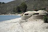 Bunker am Strand von Qeparo in Albanien , am 31.05.2008 . Travel Reise Europa Balkan Suedosteuropa Osteuropa Albania Urlaub Meer beach Tourismus tourism   .