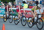 Wales Non Stanford competes in the Womans Triathlon <br /> <br /> *This image must be credited to Ian Cook Sportingwales and can only be used in conjunction with this event only*<br /> <br /> 21st Commonwealth Games - Womans Triathlon -  Day 1- 05\04\2018 - Broadwater Parklands - Gold Coast City - Australia