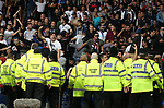 Police try to contain the Hajduk Split fans during the Europa League Qualifying Play Offs 1st Leg match at Goodison Park Stadium, Liverpool. Picture date: August 17th 2017. Picture credit should read: David Klein/Sportimage