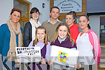 NEW LOGO: Lisa Kearney and Keeva Reidy (front) whose designs have been chosen as the new logo for the Kerryhead/Ballyheigue Family Resource Centre, pictured here with staff members Jenny Dee, Muiri?osa Griffin, Seamus Falvey, Siobhan Horgan and Lynsey Keane.